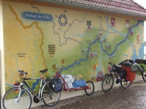 Karte der Elbe in Wittenberg