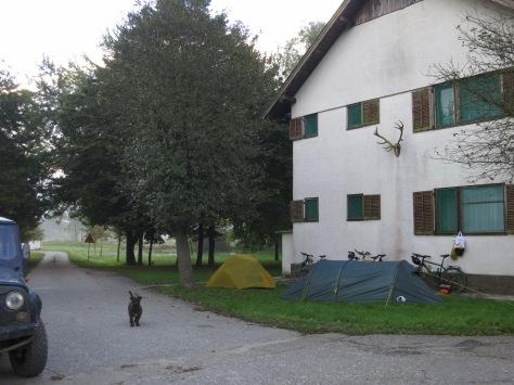 Forsthaus und unser Lager