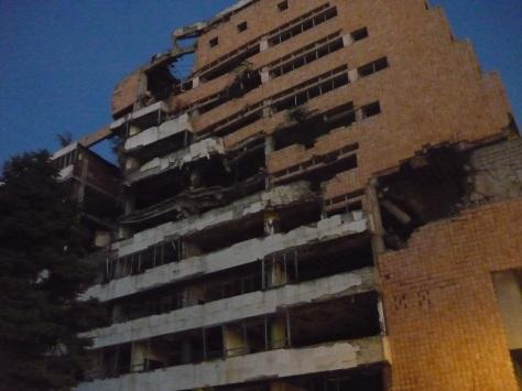 Mahnmal-Ruinen des Nato-Bombardements in den 1990ern, Belgrad